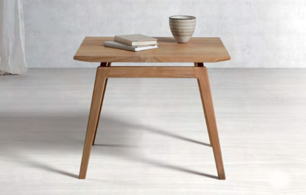 Mesa de centro de madera de teca Baladia - Mesa auxiliar  moderna de madera de teca.