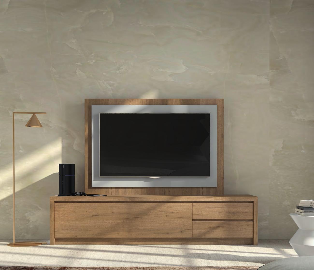 Mueble de TV D103C - Mueble de TV D103C, Mueble TV junto con panel TV
