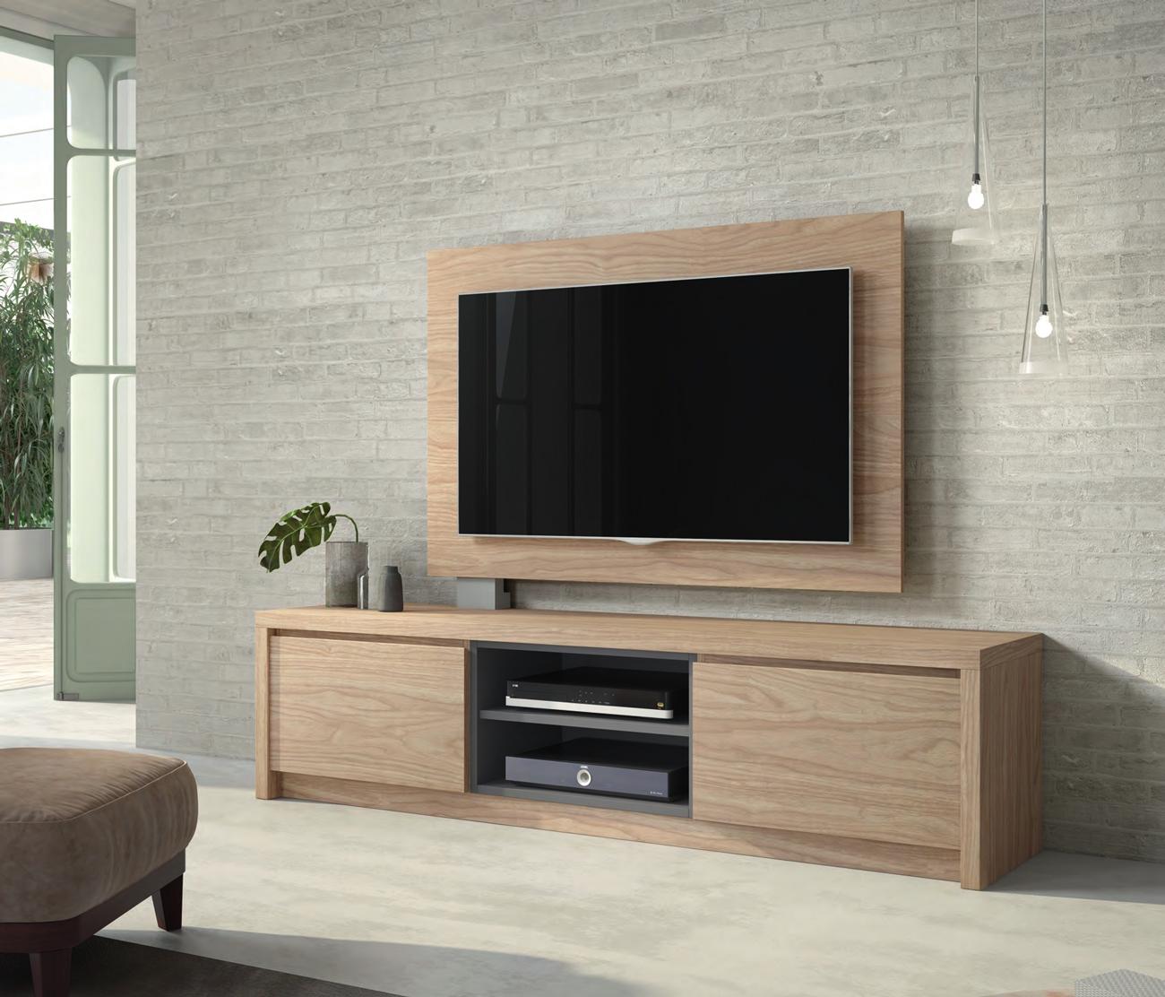 Mueble de TV D106C - Mueble de TV D106C, Mueble TV junto con panel TV