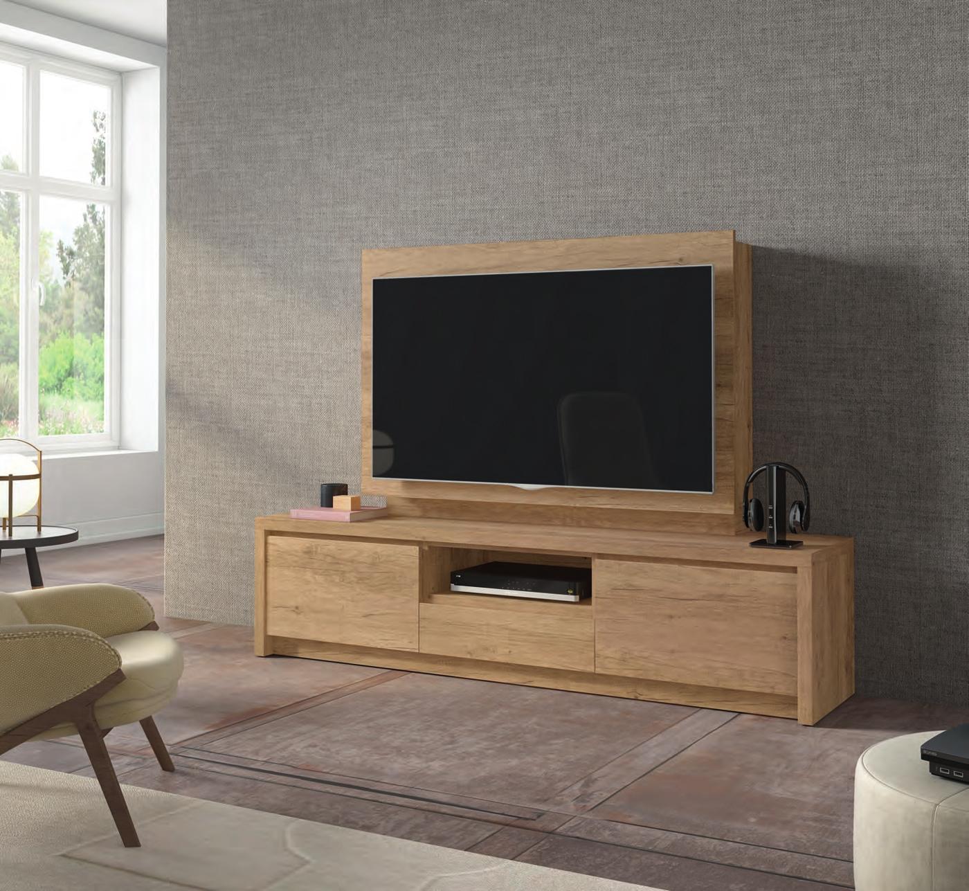 Mueble de TV D107C - Mueble de TV D107C, Mueble TV junto con panel TV