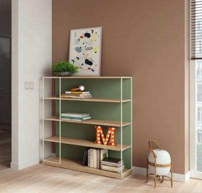 Estantería K08  Colección KAY 3.0 - Estantería K08  Colección KAY 3.0, Una librería ligera y minimalista para exponer libros y otros objetos decorativos. La combinación de metal y madera le da un toque actual al mueble