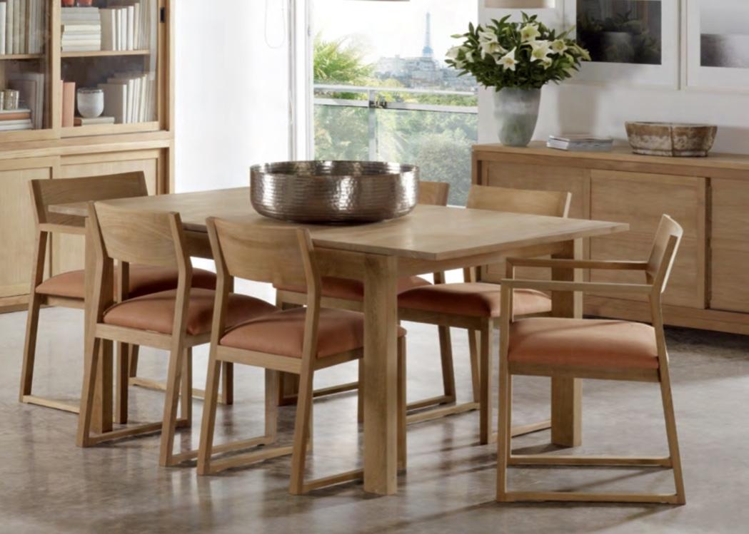 Silla y sillón de teca Baladia - Sillón y silla de madera de teca.