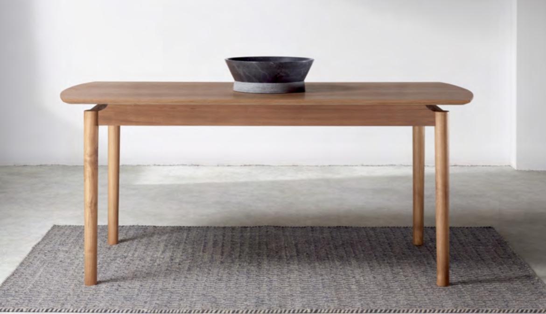 Mesa de comedor de teca Baladia - Mesa de comedor de madera de teca.