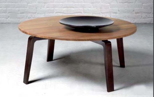 Mesa de centro redonda de madera de teca Baladia  - Mesa  de centro redonda, de madera de teca para el salón.