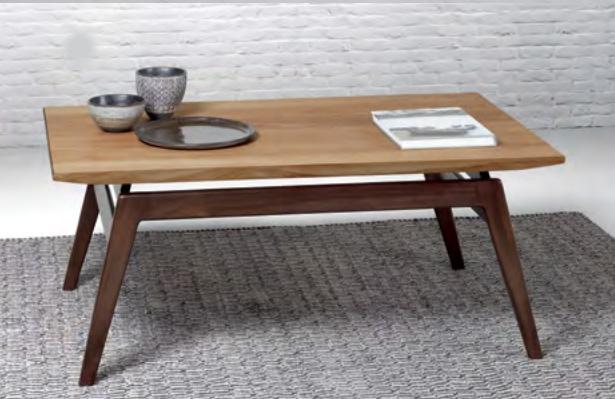 Mesa de centro de madera de teca Baladia - Mesa de centro moderna de madera de teca para el salón.