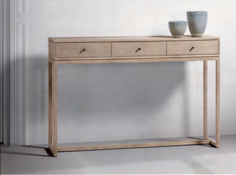 Consola de madera de teca Baladia - Consola de madera de teca para el salón.