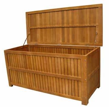 Baul madera acacia exterior - Baul para exterior en madera de acacia
