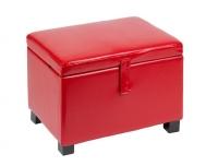 Puff/Baúl simil piel rojo - Puff/Baúl simil piel color rojo