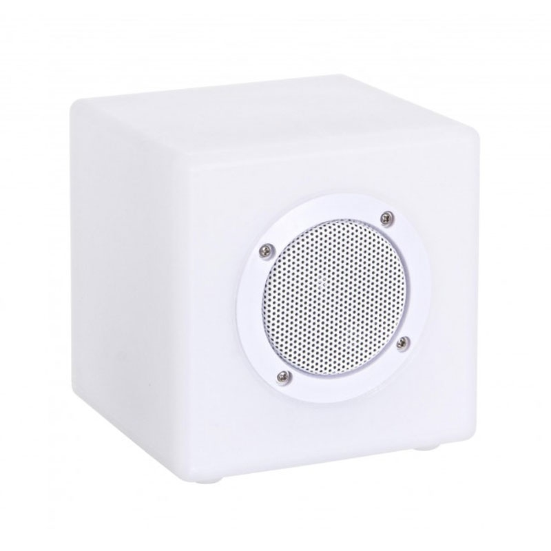 LÁMPARA LED CUBO SPEAKER PE 15X15 - PE, LÁMPARA LED, 7 COLORES, ALTAVOZ BLUETOOTH, CABLE USB Y MANDO A DISTANCIA INCLUIDOS. PARA USO INTERIOR Y EXTERIOR (IP44)