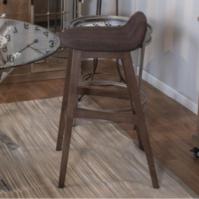 Taburete Mag - Taburete patas en madera nogal