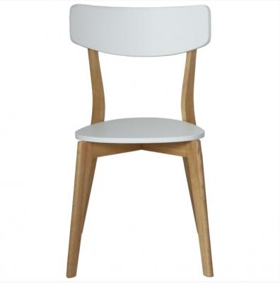 Silla de comedor Vett  - Silla de comedor en madera color blanco