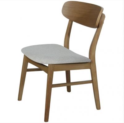 Silla de comedor Vett tapizada  - Silla de comedor en madera color marrón oscuro