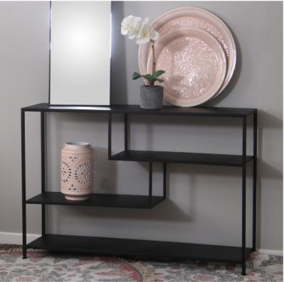 Mesa de entrada Lec  - Mesa de entrada en hierro color negro