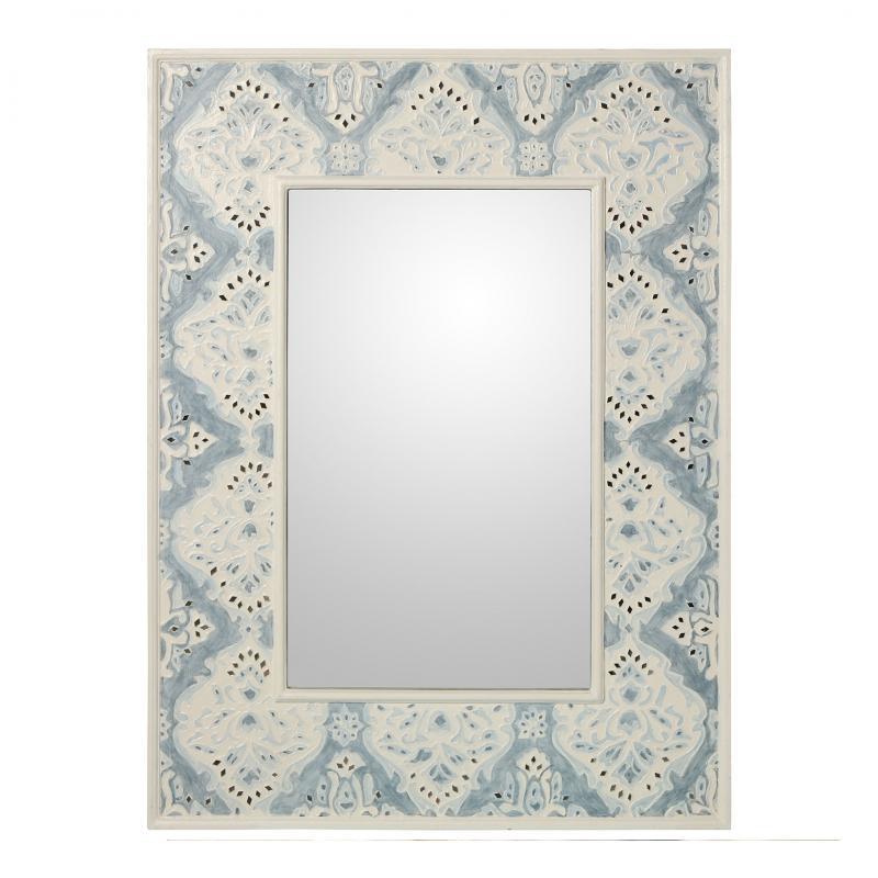 Espejo de madera con apliques Nacar 60201 - Espejo de madera con apliques Nacar 60201, 76x100x5 cm