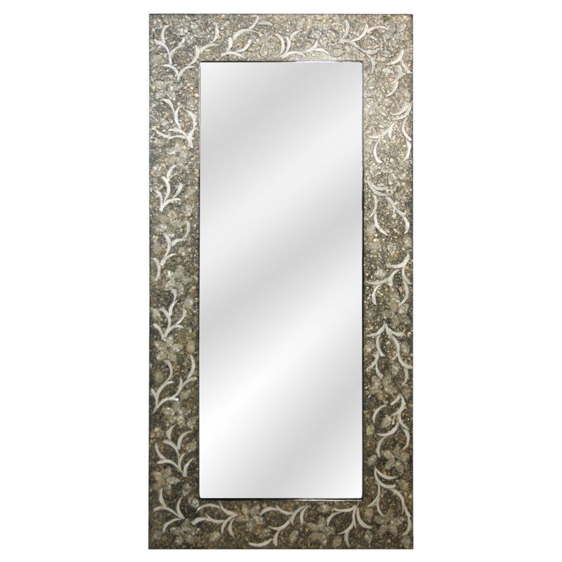 Espejo de madera con apliques Nacar 46644 - Espejo de madera con apliques Nacar 46644,  170x80 cm