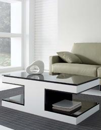 mesa de centro ovalada madera
