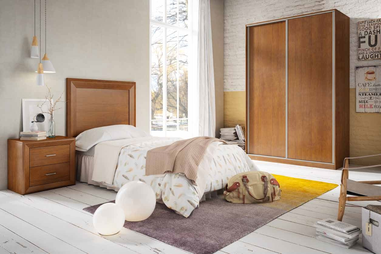Dormitorio Juvenil 02 Colección Olga - DORMITORIO JUVENIL Nº2 · NOGAL