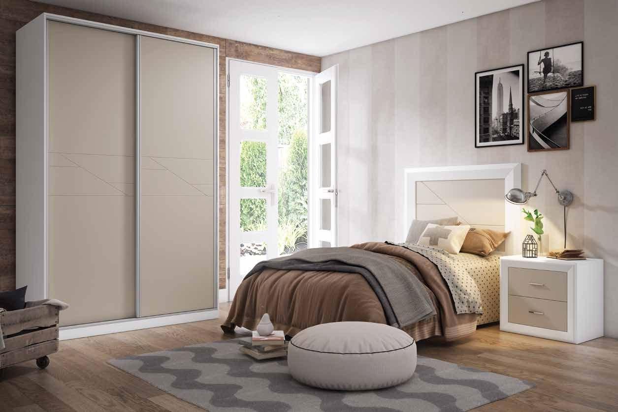 Dormitorio Juvenil 03 Colección Olga - DORMITORIO JUVENIL Nº3 · BLANCO CREMA