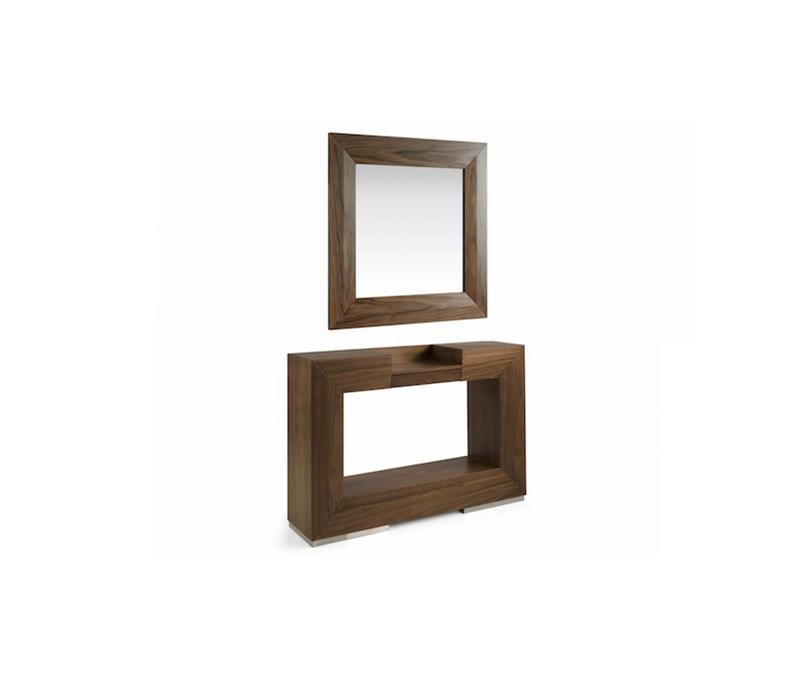 Espejo o Consola Hole - Espejo o Consola Hole, Consola rectangular moderna con tres cajones superiores