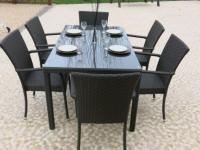 Conjunto de comedor outdoor - Conjunto de comedor de jardín