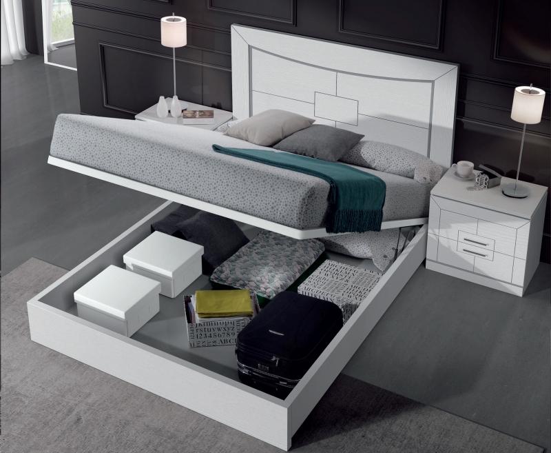 Dormitorio Agata Abatible - Dormitorio Agata Abatible, fabricado en melamina barnizada o lacada
