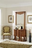 Recibidor de diseño clasico con espejo - Sillón de diseño