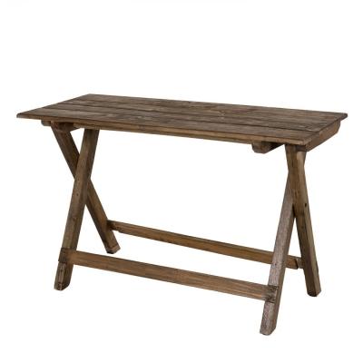 MESA PLEGABLE COLECCIÓN NORA - Mesa plegable en madera de Caoba