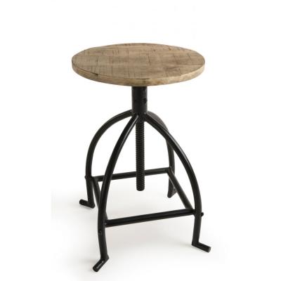 TABURETE AJUSTABLE ROMANO-1 - taburete de madera de mango y patas metal