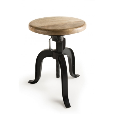 TABURETE AJUSTABLE ROMANO-3 - taburete de madera de mango y patas metal