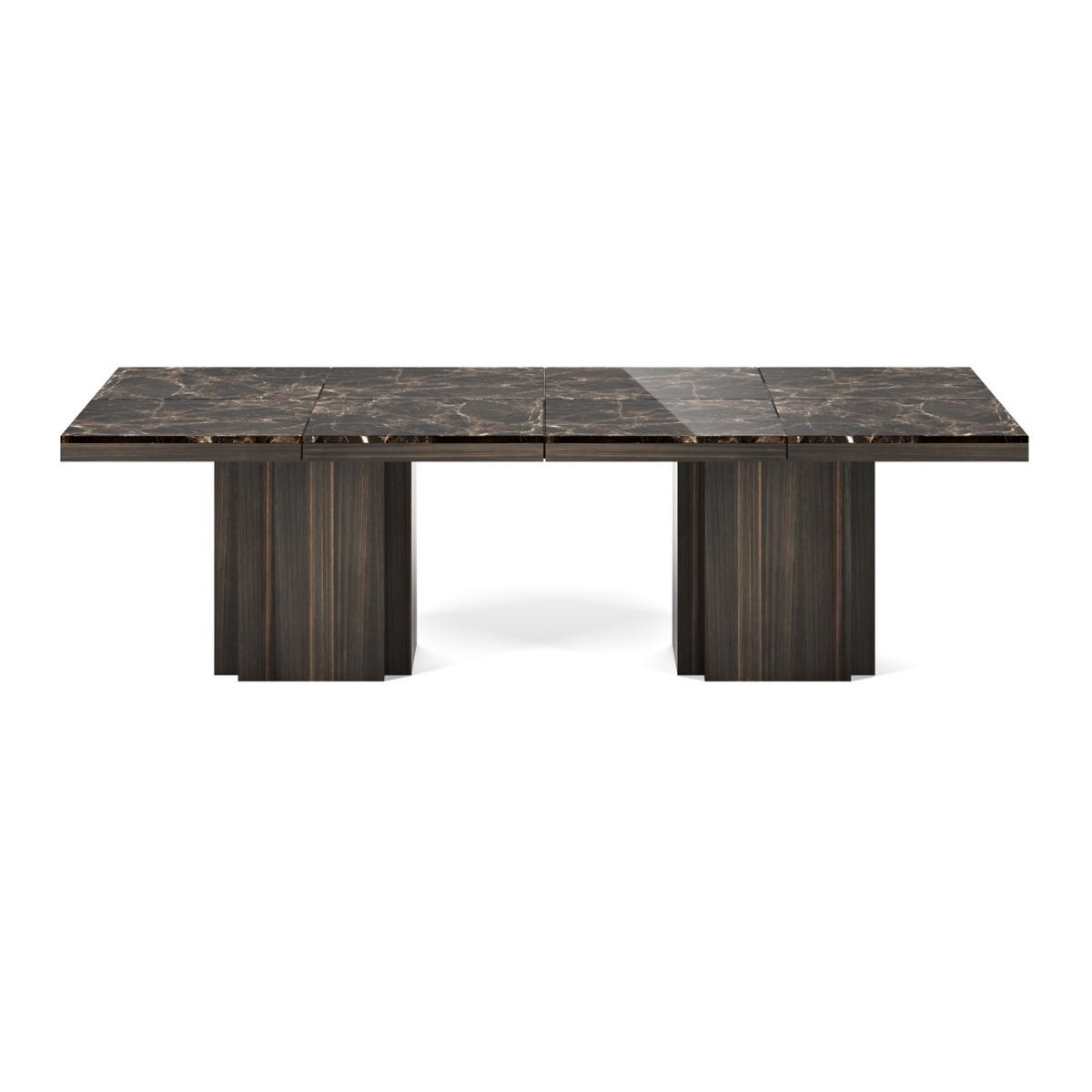 Mesa rectangular de marmol - Mesa de comedor cuadrada con tope de marmol.