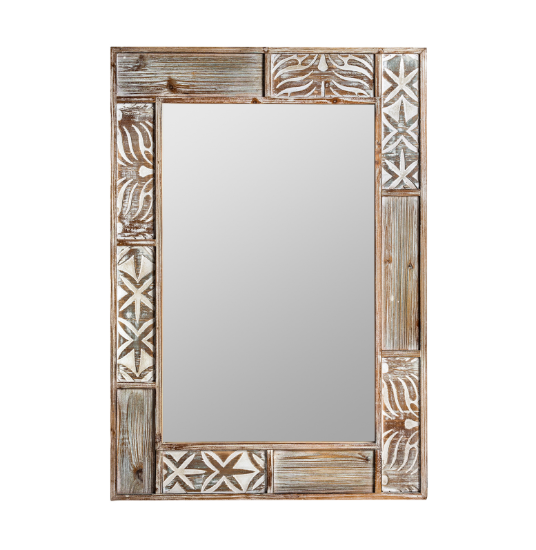 Espejo Bali - Espejo Bali de madera de abeto