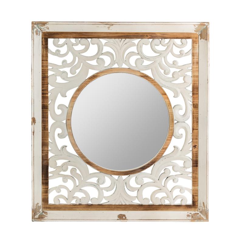 Espejo Calcuta - Espejo Calcuta de madera de abeto