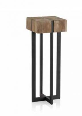 Pedestal Avi  - Pedestal Avi en madera y metal