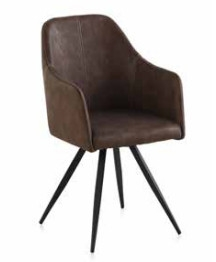 Silla America Brown - Silla America Brown en metal