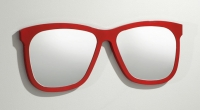 Espejo con formas de gafas - Espejo de pared con diseño de gafas