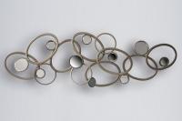 Cuadro decorativo de chapa con espejos - Cuadro de diseño