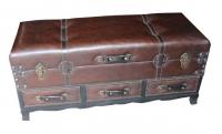 Baúl de piel remachada - Arcón moderno