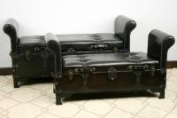 Arcones con asiento Negros - Arcón asiento moderno Set de 2