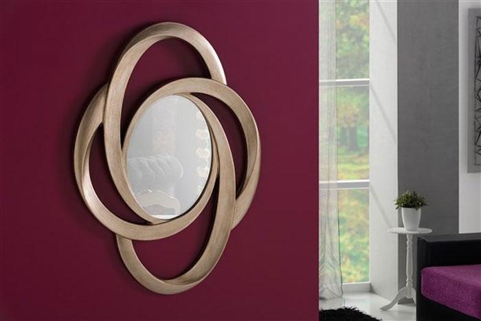 Espejo elegante de poliresina - ESPEJO DE POLOIRESINA 125 X 88