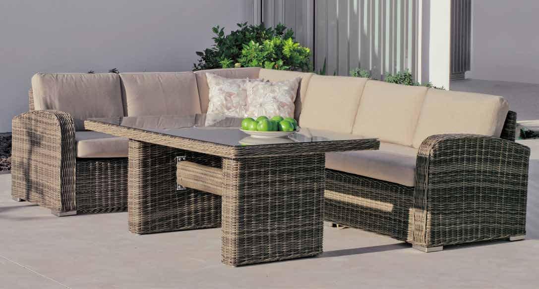 Set muebles de lujo para exteriores Bosarlino 106 - Muebles de Rattan de lujo con resistencia garantizada Bosarlino 106