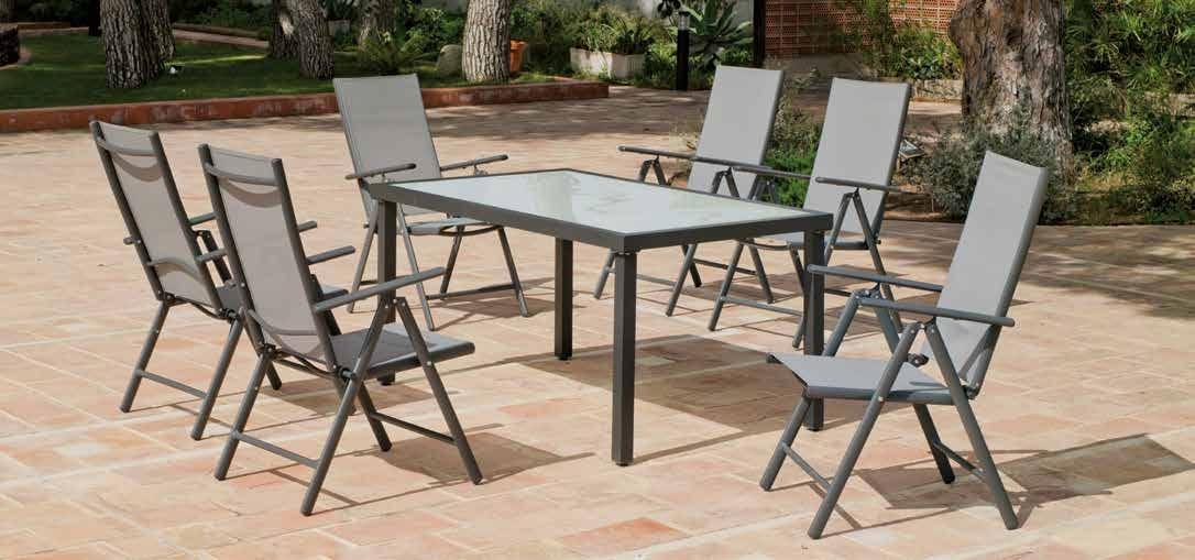 Set de jardín en aluminio Horizon 180 - Set de jardín en aluminio Horizon 180