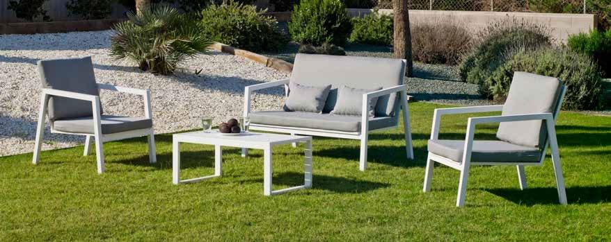 Sofá Agata 7 - Sofá Agata 7, se fabrica en una amplia gama de colores: Blanco o Antracita y las tapicerías son también seleccionables en calidad de tejido y color o estampado.