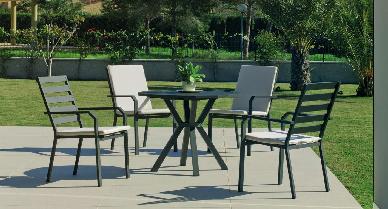 Set Mesa de aluminio Baracoa/Caravel 110-4 - Set Mesa de aluminio Baracoa/Caravel 110-4