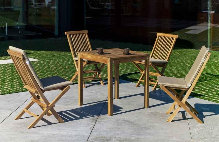 Set sillas y mesa madera Bistro Seroni 707
