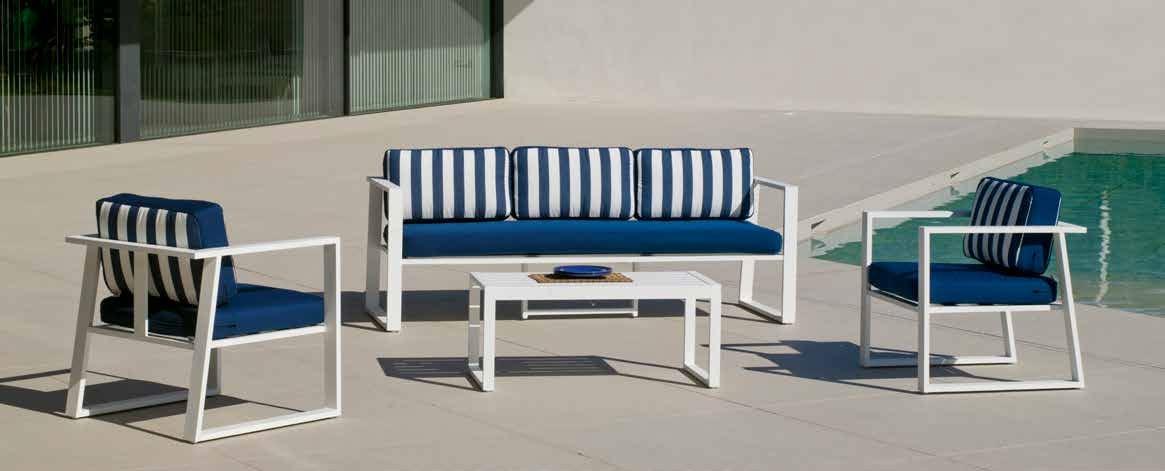 Set Sofa Boracay-8 - Set Sofa Boracay-8, se fabrica en una amplia gama de colores: Blanco, Antracita o Plata y las tapicerías son también seleccionables en calidad de tejido y color o estampado.