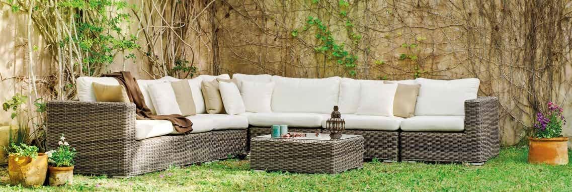 Set muebles de lujo para exteriores Bosarlino 90 - Muebles de Rattan de lujo con resistencia garantizada Bosarlino 90