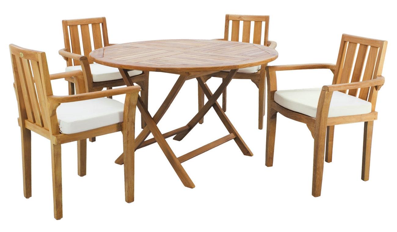 Set sillas y mesa madera Evora Seroni 120
