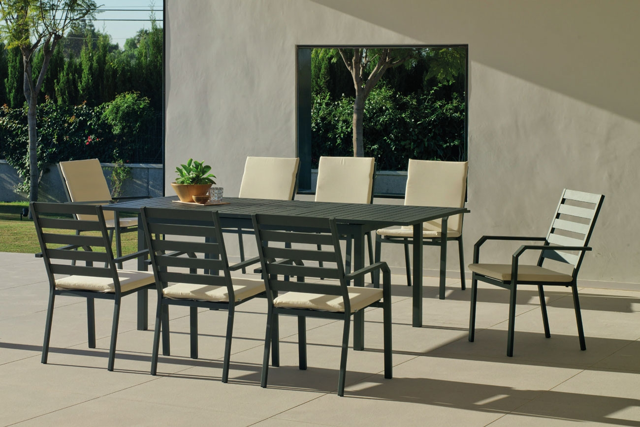 Set Mesa de aluminio Palma/Caravel 170-220