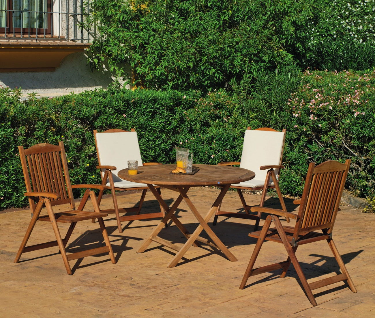 Set sillas y mesa madera King Seroni 120