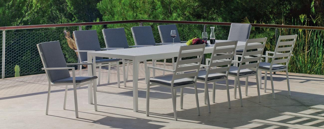 Set Mesa de aluminio Palma 300-10
